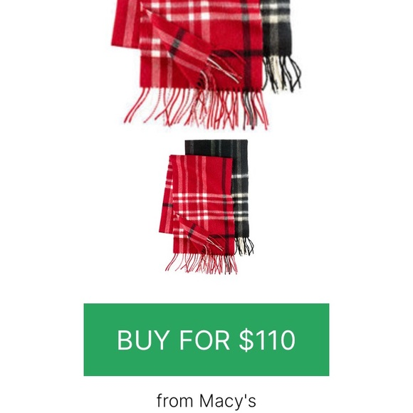 New Character Club red plaid cashmere scarf